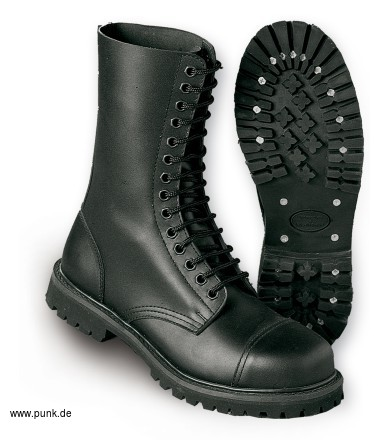 Undercover boots 14 eyelet, black
